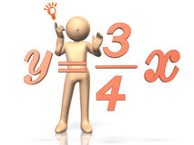 He solved the equation. Royalty Free Stock Photos