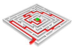 Solved maze Stock Images
