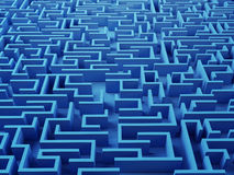 Solved Maze puzzle Stock Images