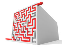 Solved maze puzzle Stock Image