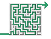 Solved maze puzzle Stock Photos