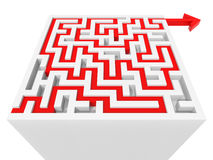 Solved maze puzzle Royalty Free Stock Images