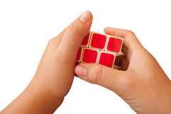 Solved Puzzle rubik cube Royalty Free Stock Photos