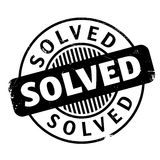 Solved rubber stamp Stock Image