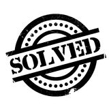 Solved rubber stamp Royalty Free Stock Images