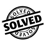 Solved rubber stamp Royalty Free Stock Image