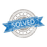 Solved stamp. Solved grunge rubber stamp on white Royalty Free Stock Images