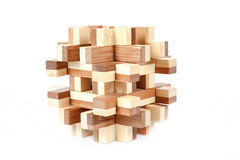 Solved wooden puzzle Royalty Free Stock Photos