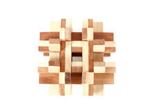 Solved wooden puzzle Royalty Free Stock Photo