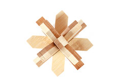 Solved wooden puzzle Royalty Free Stock Image