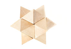 Solved wooden puzzle Royalty Free Stock Photography