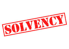 SOLVENCY. Red Rubber Stamp over a white background Stock Photography