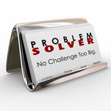 Solver προβλήματος σταδιοδρομία εργασίας συμβούλων κατόχων επαγγελματικών καρτών Στοκ Φωτογραφίες