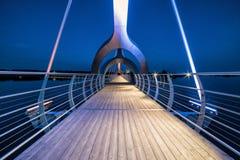 Solvesborg bridge perspective in evening lights Stock Photo