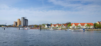 Solvesborg city - sea view Stock Images