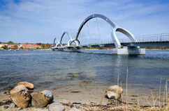 Solvesborg's bridge - view from island coast Stock Images