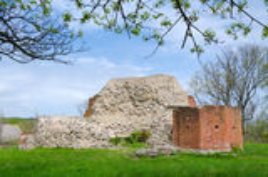 Solvesborg's castle ruins Stock Image