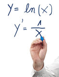 Solving differential calculus. Royalty Free Stock Photography