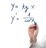 Solving differential calculus. Stock Image