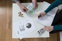 Solving financial problems Stock Images