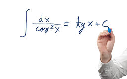 Solving integral equation. Stock Photo