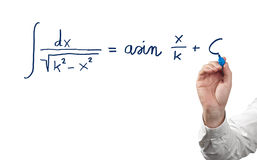 Solving integral equation. Royalty Free Stock Photos