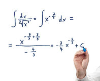 Solving integral equation. Stock Photography