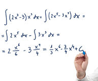 Solving integral equation. Royalty Free Stock Image