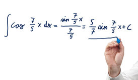 Solving integral equation. Royalty Free Stock Photo