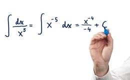 Solving integral equation. Stock Photos