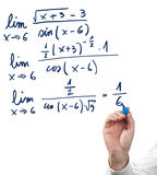 Solving limit equation. Royalty Free Stock Photography