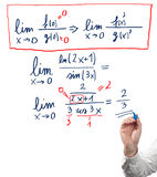 Solving limit equation. Royalty Free Stock Photos