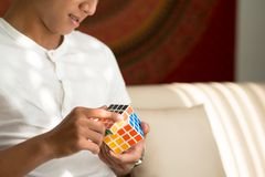 Solving Master Cube Stock Images