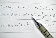 Solving math royalty free stock images