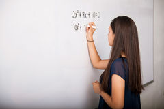 Solving a math problem Stock Image