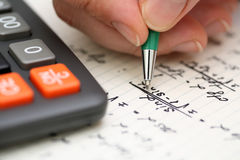 Solving Mathematical Problem Stock Images