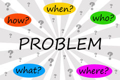 Solving the problem. By asking the right questions Stock Images