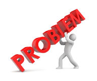 Solving the problem. Image contain the clipping path Royalty Free Stock Images