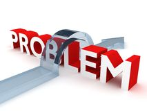 Solving problem 3d concept Stock Photography