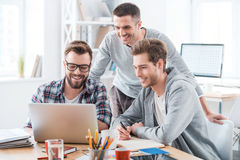 Solving problems as one team. Royalty Free Stock Image