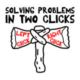 Solving Problems In Two Clicks Royalty Free Stock Photo