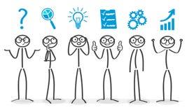 Solving process, generator ideas, succeed. Vector vector illustration