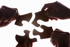 Solving the puzzle Stock Photos