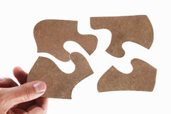 Solving the puzzle Royalty Free Stock Images