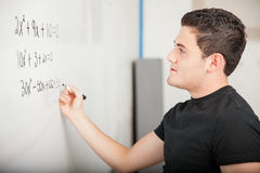 Solving some math problems Stock Photos