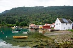 Solvorn at the Lustrafjorden, Sogn og Fjordane, Norway Royalty Free Stock Photo