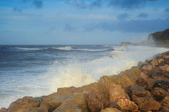 Solway Coast UK. Windy day at Whitehaven stock images