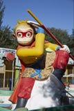SolWukong staty, kinesisk sagaapa Arkivfoto