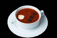 Solyanka Der traditionelle Teller der russischen/ukrainischen Küche Lizenzfreie Stockfotos