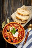 Solyanka - Russian traditional meat soup Stock Photography